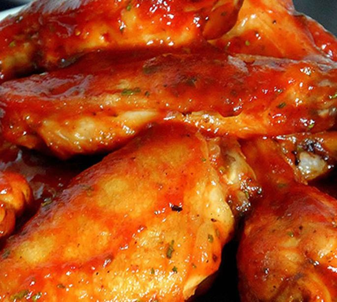 Baked Sweet & Spicy Chicken Wings