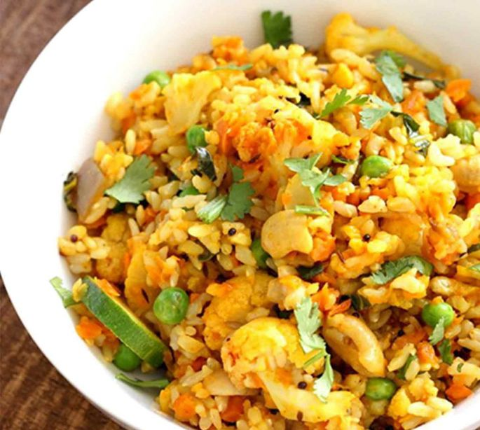 Vegetable Rice With Indian Spices
