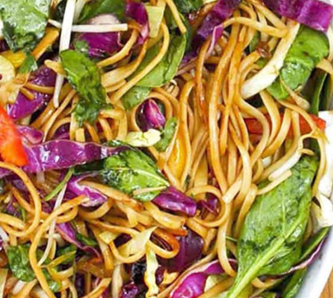Vegetarian Fried Vermicelli Noodles