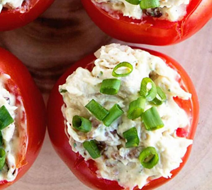 Chicken-And-Egg-Stuffed Tomatoes