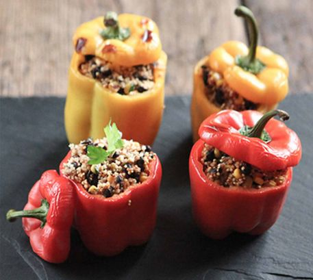 Millet Stuffed Peppers